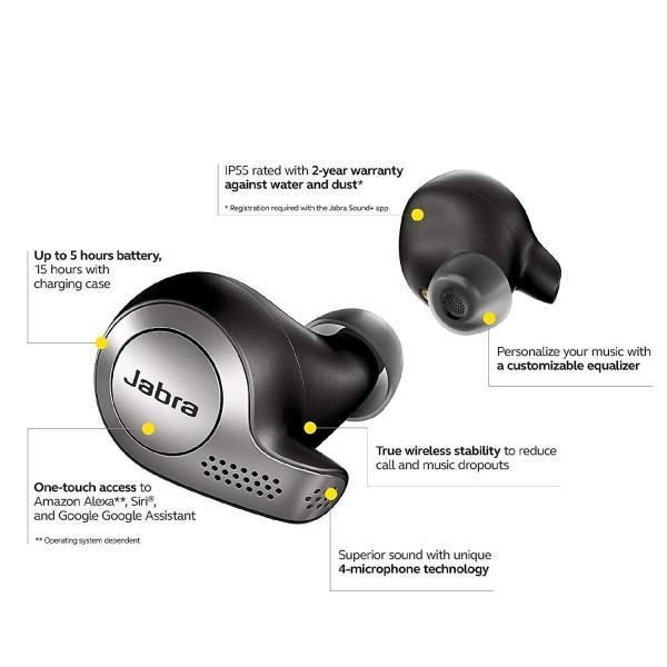 Jabra Elite 65t チタニウムブラック 北欧デザイン Amazon Alexa搭載 完全ワイヤレスイヤホン BT5.0|eyshopnet|05
