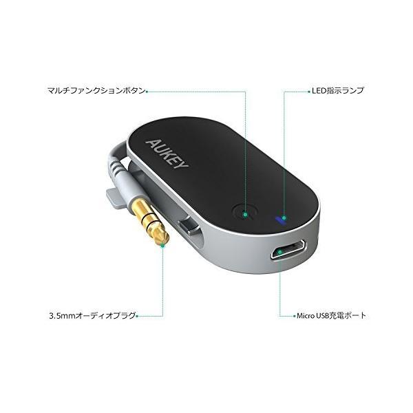 AUKEY Bluetooth トランスミッター Bluetooth送信機 ワイヤレス オーディオ トランスミッター 3.5mmステレオミニプラグ接続 BT-C1|eyshopnet|03