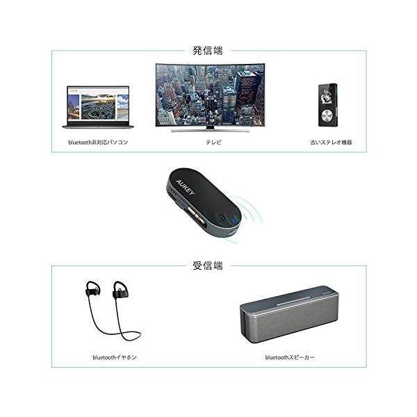 AUKEY Bluetooth トランスミッター Bluetooth送信機 ワイヤレス オーディオ トランスミッター 3.5mmステレオミニプラグ接続 BT-C1|eyshopnet|05