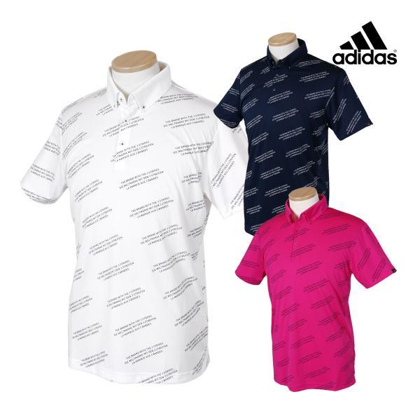 adidas Golf アディダスゴルフ 春夏ウエア ADICROSS レタード S/S ボタンダウンポロシャツ FVE79