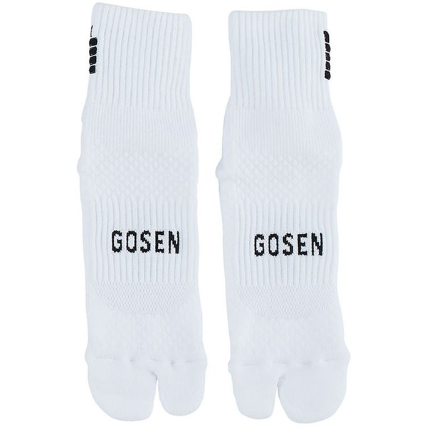GOSEN(ゴーセン) 高機能ソックス 足首フィット&母指球サポート 足袋タイプ 22-25cm テニス・バドミントン ホワイト