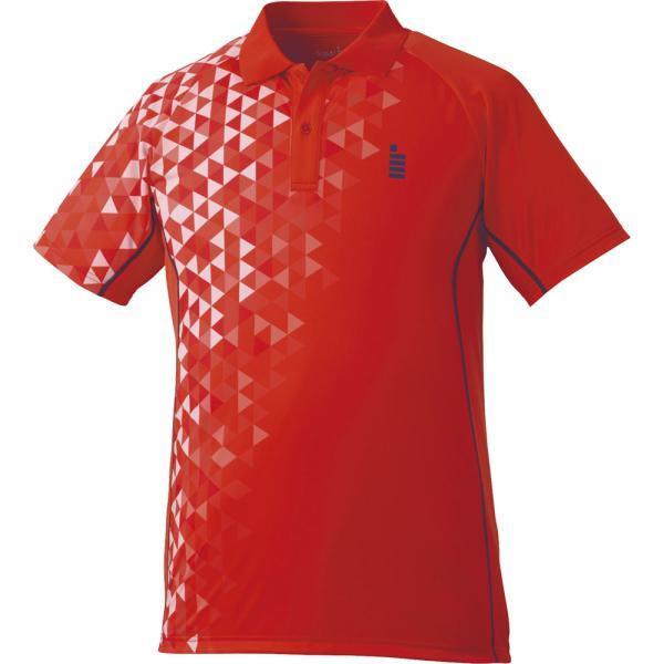 GOSEN(ゴーセン) (男女兼用 テニス・バドミントンウェア) ゲームシャツ レッド
