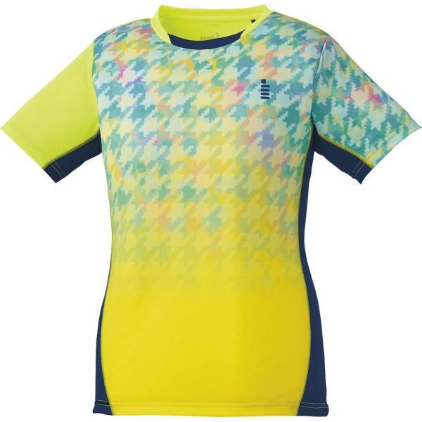 GOSEN(ゴーセン) レディース テニス・バドミントンウェア ゲームシャツ ネオンイエロー