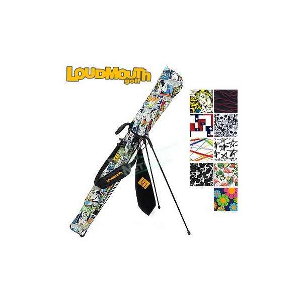 LOUDMOUTH GOLF(ラウドマウス ゴルフ)日本正規品 セルフスタンドキャリーバッグ フック付きタオル付き 「LM-CC0003」