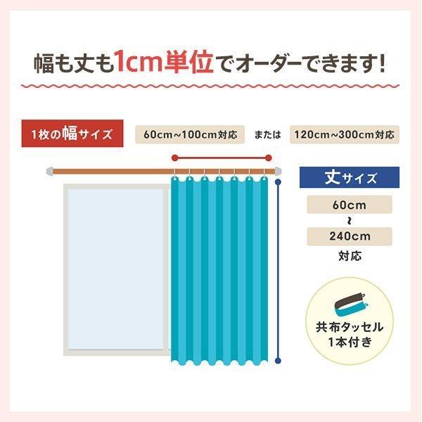 カーテン 遮光 1級 洗濯機可能 防炎 形状記憶 日本製  無地 ドレープカーテン 2枚組  幅100 / 1枚 幅125 幅150 幅175 幅200|ezee-curtain|02