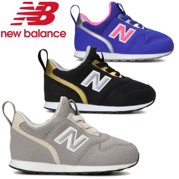 ニューバランス996SLIPONIインファントシューズスニーカー子供靴靴くつ 黒靴黒スニーカーブラック