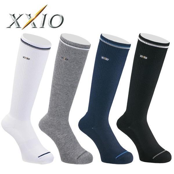 メール便送料無料 ゼクシオ ゴルフ ハイソックス 靴下 メンズ XMO0505 2020モデル