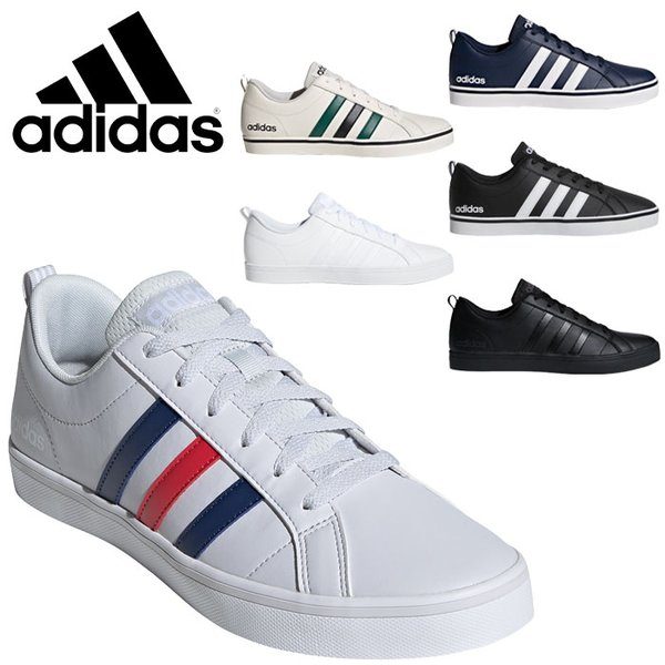 アディダススニーカーメンズアディペースADIPACEVSシューズ靴くつ 白靴ホワイト通学白スニーカー通学通学靴黒靴