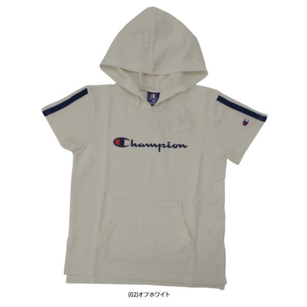 クリアランスセール30%OFF!チャンピオン フーディーシャツ CJ4254 ジュニア キッズ ガールズ 2019年春夏|ezone|03