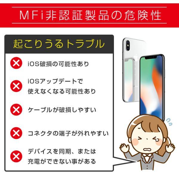 iPhoneケーブル 2m 1m ライトニングケーブル 充電ケーブル apple認証 ezviz 07