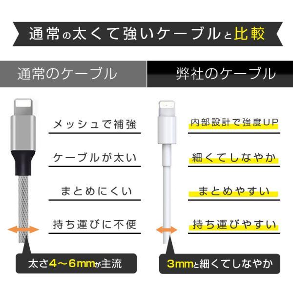 iPhoneケーブル 2m 1m ライトニングケーブル 充電ケーブル apple認証 ezviz 09