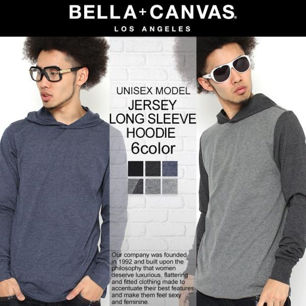 BELLA + CANVAS LOS ANGELES ベラキャンバス ロサンゼルス パーカー 薄手 長袖 カットソー プルオーバー メンズ レディース プルオーバーパーカー L.A. LA|f-box