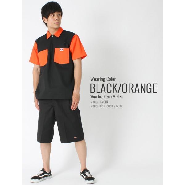 ベンデイビス シャツ 半袖 ハーフジップ メンズ ワークシャツ 大きいサイズ USAモデル|ブランド BEN DAVIS|半袖シャツ アメカジ|f-box|06