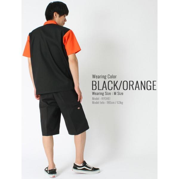 ベンデイビス シャツ 半袖 ハーフジップ メンズ ワークシャツ 大きいサイズ USAモデル|ブランド BEN DAVIS|半袖シャツ アメカジ|f-box|10