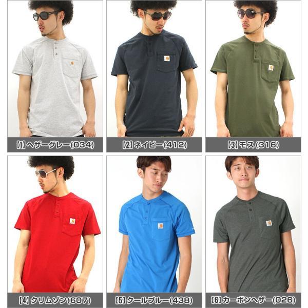 カーハート Tシャツ 半袖 ポケット ヘンリーネック メンズ 5.75oz 大きいサイズ 100413 USAモデル│ブランド 半袖Tシャツ アメカジ|f-box|02