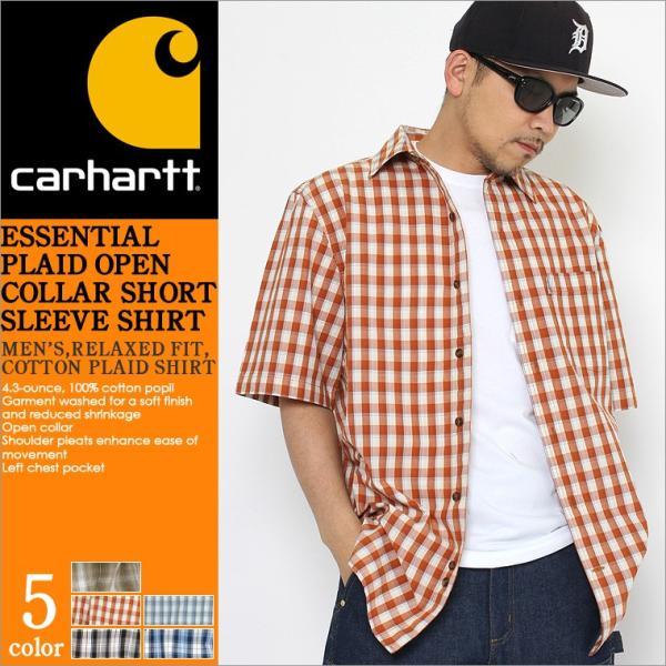 最大2,000円OFFクーポン配布 カーハート Carhartt シャツ メンズ 半袖  チェックシャツ 半袖シャツ ボタンダウン チェック柄  カーハート|f-box