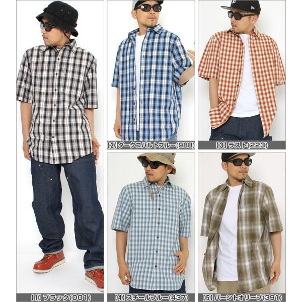 最大2,000円OFFクーポン配布 カーハート Carhartt シャツ メンズ 半袖  チェックシャツ 半袖シャツ ボタンダウン チェック柄  カーハート|f-box|02
