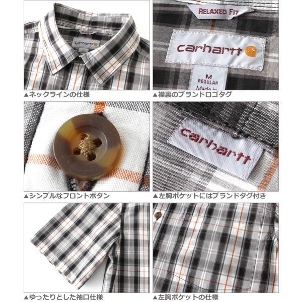 最大2,000円OFFクーポン配布 カーハート Carhartt シャツ メンズ 半袖  チェックシャツ 半袖シャツ ボタンダウン チェック柄  カーハート|f-box|03