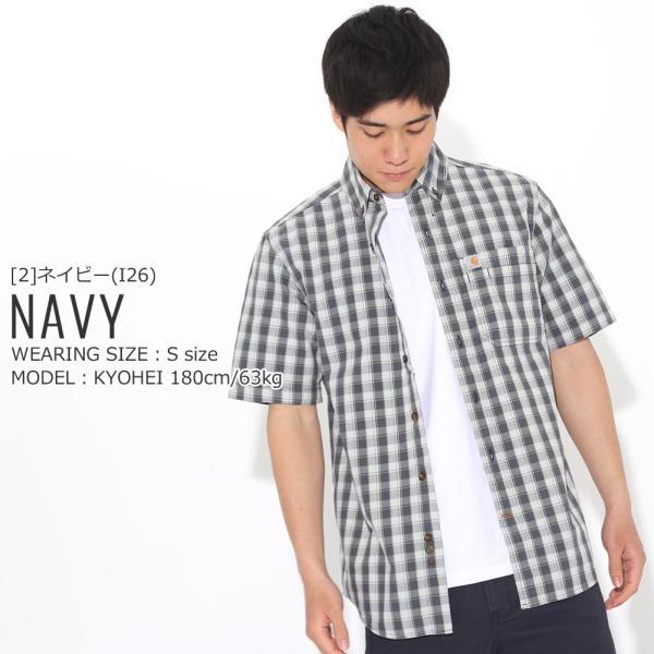 カーハート シャツ 半袖 ボタンダウン ポケット チェック柄 薄手 メンズ 104174 USAモデル|ブランド Carhartt|チェックシャツ アメカジ|f-box|15