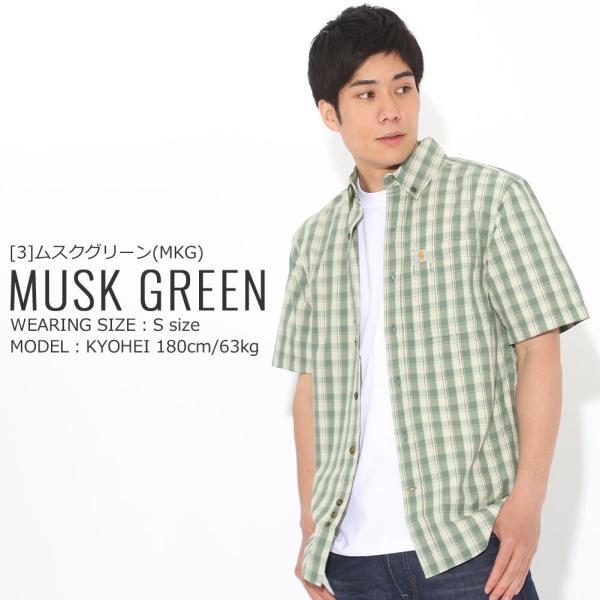 カーハート シャツ 半袖 ボタンダウン ポケット チェック柄 薄手 メンズ 104174 USAモデル|ブランド Carhartt|チェックシャツ アメカジ|f-box|17