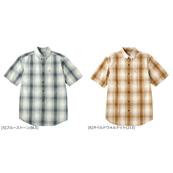 カーハート シャツ 半袖 ボタンダウン ポケット チェック柄 薄手 メンズ 104174 USAモデル|ブランド Carhartt|チェックシャツ アメカジ|f-box|04
