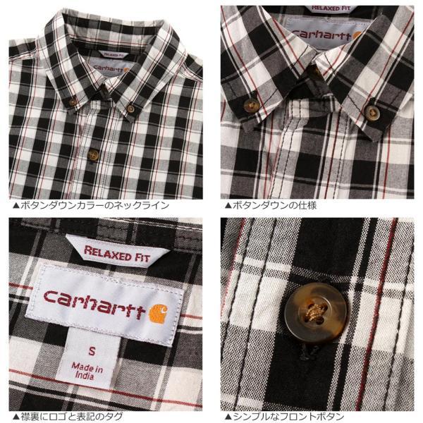 カーハート シャツ 半袖 ボタンダウン ポケット チェック柄 薄手 メンズ 104174 USAモデル|ブランド Carhartt|チェックシャツ アメカジ|f-box|05