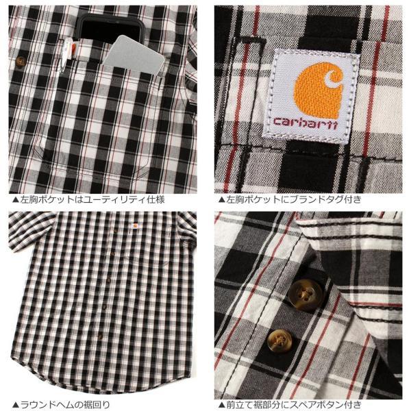 カーハート シャツ 半袖 ボタンダウン ポケット チェック柄 薄手 メンズ 104174 USAモデル|ブランド Carhartt|チェックシャツ アメカジ|f-box|06
