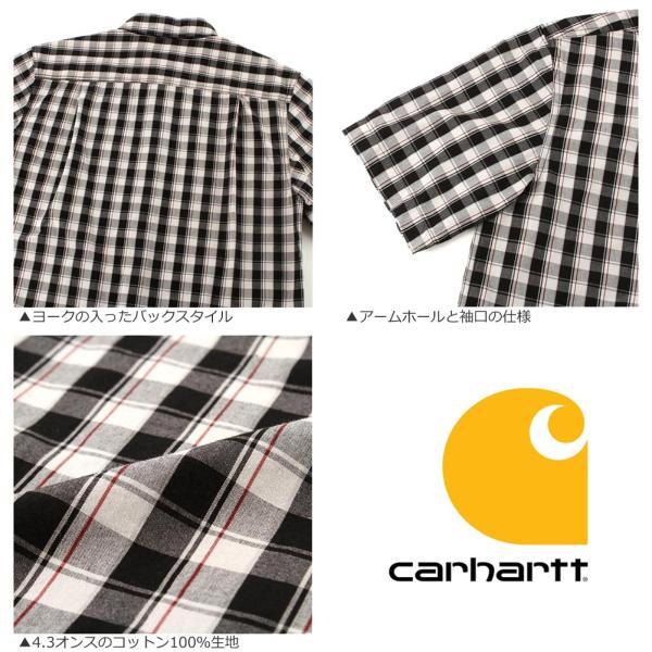 カーハート シャツ 半袖 ボタンダウン ポケット チェック柄 薄手 メンズ 104174 USAモデル|ブランド Carhartt|チェックシャツ アメカジ|f-box|07