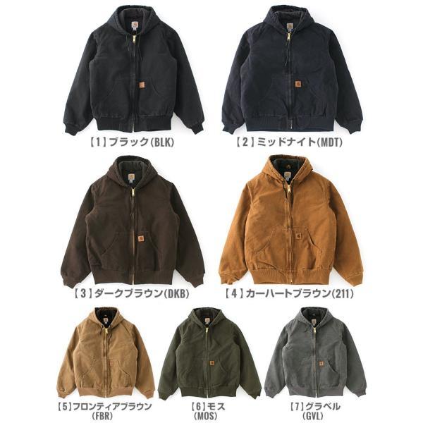 カーハート ジャケット メンズ アクティブジャケット 大きいサイズ j130 USAモデル│ブランド ダックジャケット ワークジャケット カバーオール 防寒 f-box 02