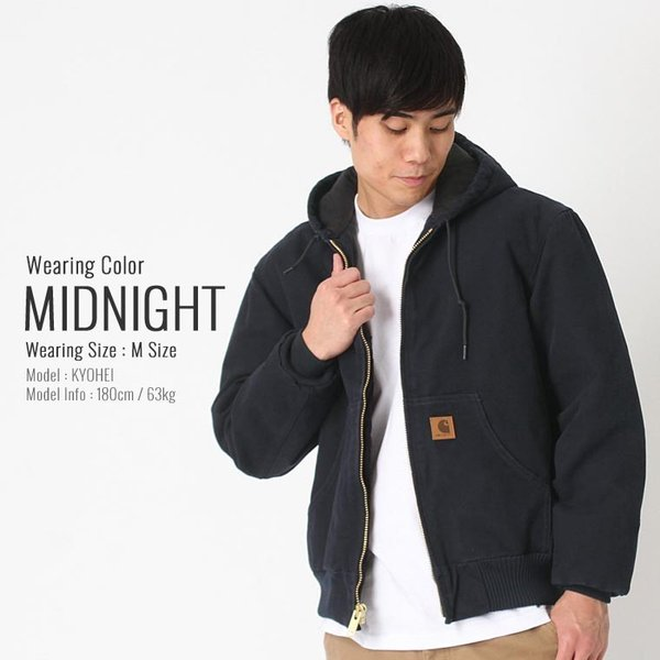 カーハート ジャケット メンズ アクティブジャケット 大きいサイズ j130 USAモデル│ブランド ダックジャケット ワークジャケット カバーオール 防寒 f-box 11