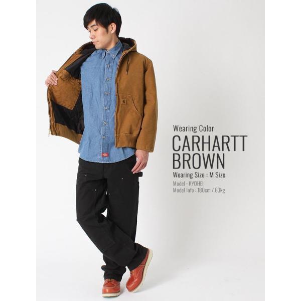 カーハート ジャケット メンズ アクティブジャケット 大きいサイズ j130 USAモデル│ブランド ダックジャケット ワークジャケット カバーオール 防寒 f-box 14