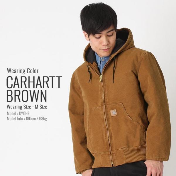 カーハート ジャケット メンズ アクティブジャケット 大きいサイズ j130 USAモデル│ブランド ダックジャケット ワークジャケット カバーオール 防寒 f-box 15