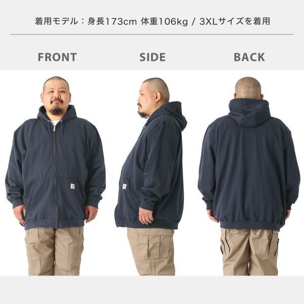 [ビッグサイズ] カーハート パーカー ジップアップ メンズ 大きいサイズ k122 USAモデル│ブランド スウェット アメカジ 裏起毛|f-box|05