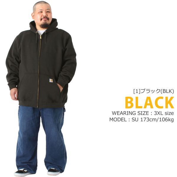 [ビッグサイズ] カーハート パーカー ジップアップ メンズ 大きいサイズ k122 USAモデル│ブランド スウェット アメカジ 裏起毛|f-box|10