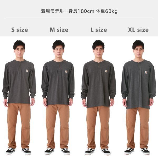 カーハート ロンT ポケット ヘンリーネック メンズ Tシャツ 長袖 6.75oz 大きいサイズ k128 USAモデル│ブランド 長袖Tシャツ アメカジ|f-box|05