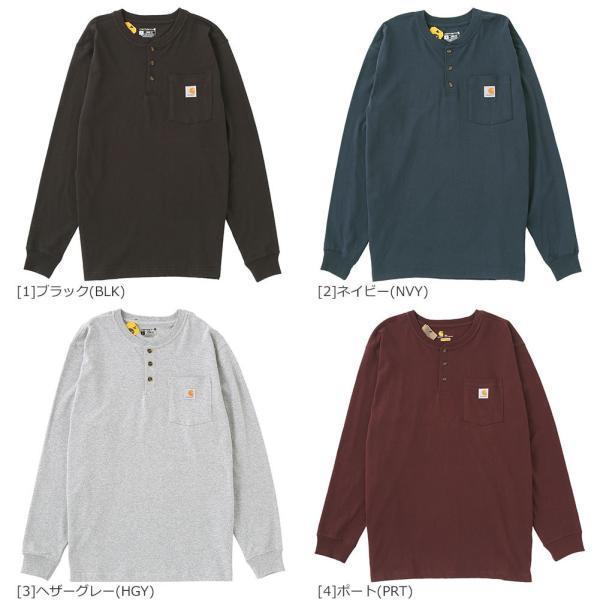 カーハート ロンT ポケット ヘンリーネック メンズ Tシャツ 長袖 6.75oz 大きいサイズ k128 USAモデル│ブランド 長袖Tシャツ アメカジ|f-box|06