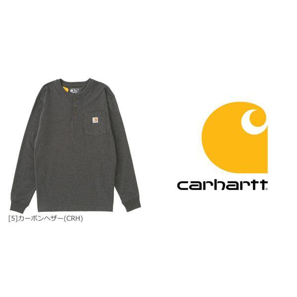 カーハート ロンT ポケット ヘンリーネック メンズ Tシャツ 長袖 6.75oz 大きいサイズ k128 USAモデル│ブランド 長袖Tシャツ アメカジ|f-box|07