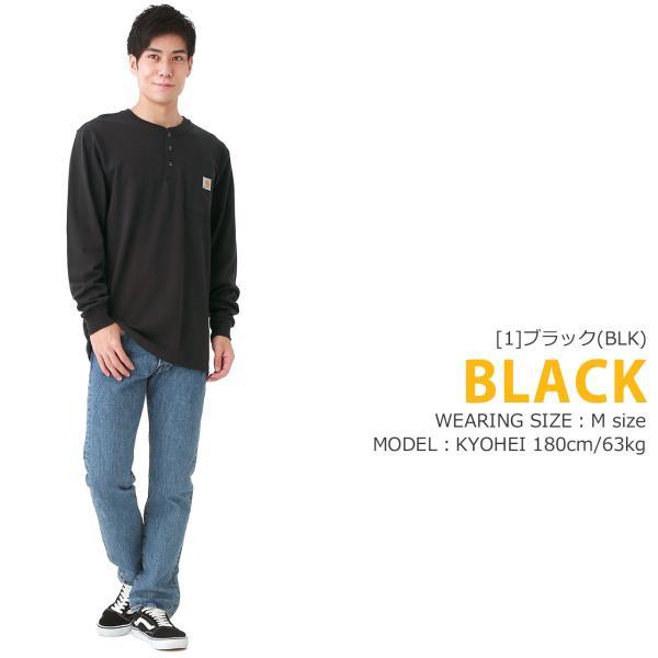 カーハート ロンT ポケット ヘンリーネック メンズ Tシャツ 長袖 6.75oz 大きいサイズ k128 USAモデル│ブランド 長袖Tシャツ アメカジ|f-box|10