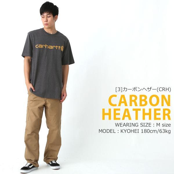 カーハート Tシャツ 半袖 クルーネック ヘビーウェイト メンズ 大きいサイズ K195 ブランド 半袖Tシャツ アメカジ USAモデル f-box 12