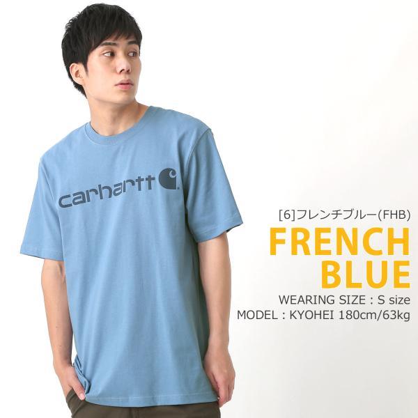 カーハート Tシャツ 半袖 クルーネック ヘビーウェイト メンズ 大きいサイズ K195 ブランド 半袖Tシャツ アメカジ USAモデル f-box 15