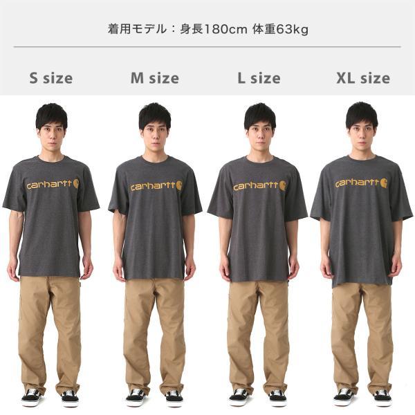 カーハート Tシャツ 半袖 クルーネック ヘビーウェイト メンズ 大きいサイズ K195 ブランド 半袖Tシャツ アメカジ USAモデル f-box 05
