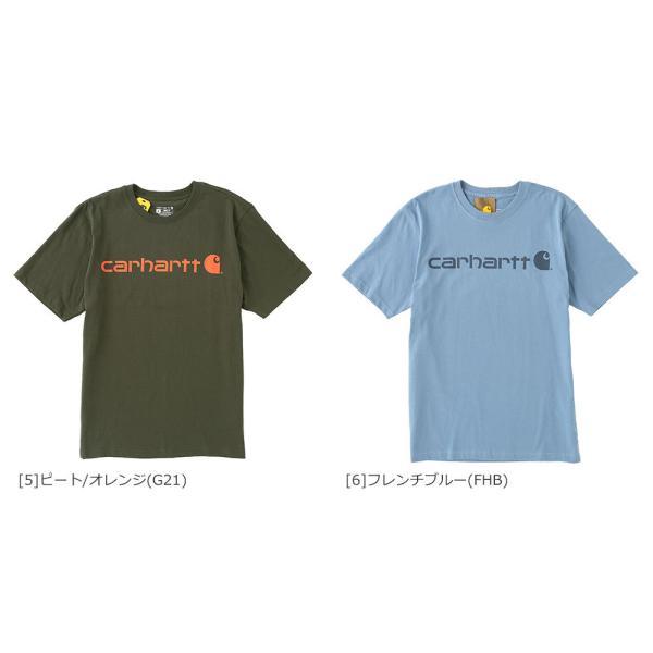 カーハート Tシャツ 半袖 クルーネック ヘビーウェイト メンズ 大きいサイズ K195 ブランド 半袖Tシャツ アメカジ USAモデル f-box 07