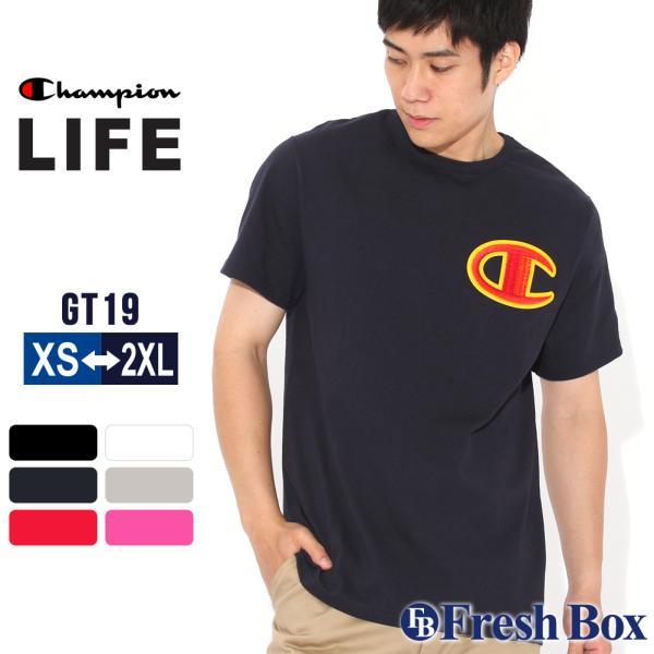 チャンピオン Tシャツ 半袖 クルーネック メンズ 大きいサイズ GT19 Y07981|ブランド アメカジ USAモデル|f-box
