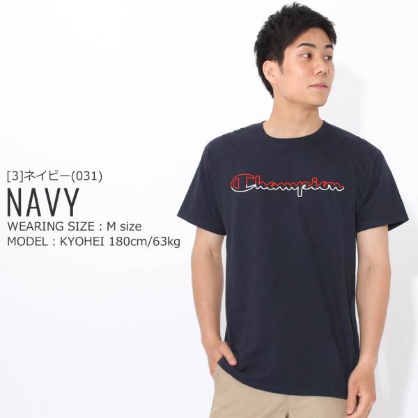 チャンピオン Tシャツ 半袖 クルーネック メンズ 大きいサイズ GT23H Y08126 USAモデル ブランド Champion 半袖Tシャツ アメカジ f-box 13