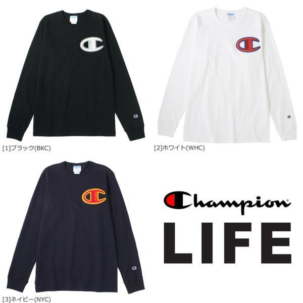 チャンピオン Tシャツ 長袖 クルーネック メンズ レディース 大きいサイズ GT47 Y07981|ブランド ロンT アメカジ USAモデル|f-box|03