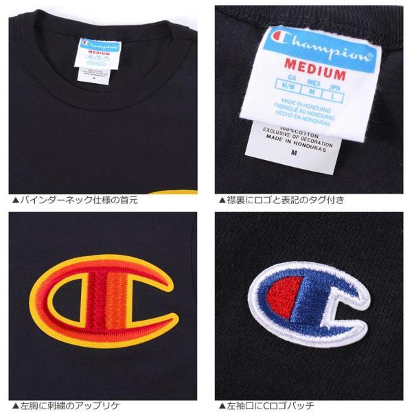 チャンピオン Tシャツ 長袖 クルーネック メンズ レディース 大きいサイズ GT47 Y07981|ブランド ロンT アメカジ USAモデル|f-box|04