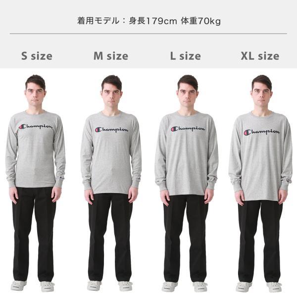 チャンピオン Tシャツ 長袖 メンズ 大きいサイズ USAモデル|ブランド ロンT 長袖Tシャツ ロゴ アメカジ|f-box|05