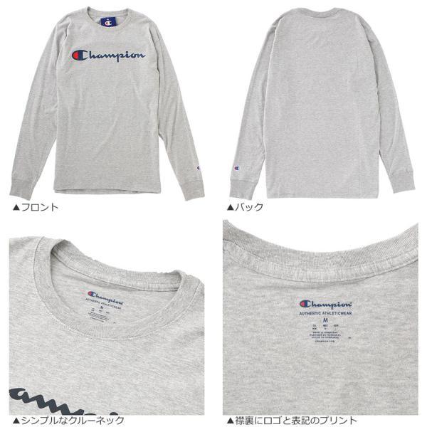 チャンピオン Tシャツ 長袖 メンズ 大きいサイズ USAモデル|ブランド ロンT 長袖Tシャツ ロゴ アメカジ|f-box|08