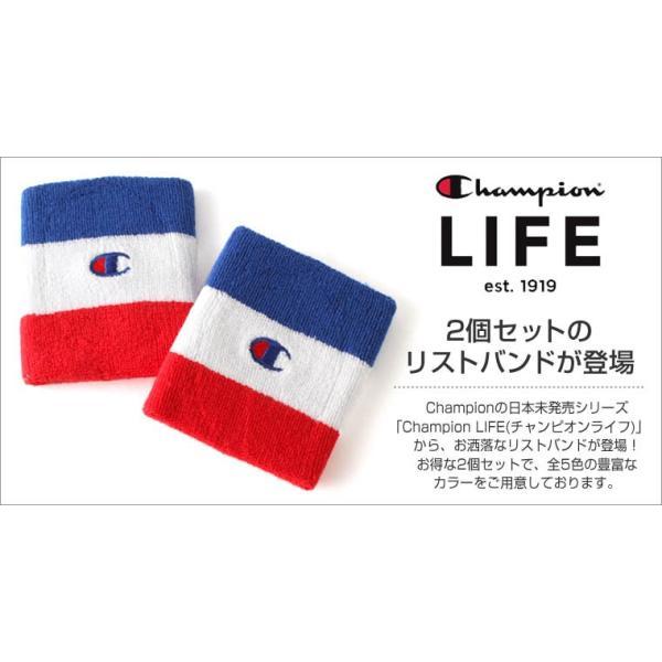 チャンピオン ライフ リストバンド 刺繍 USAモデル ブランド おしゃれ スポーツ f-box 02