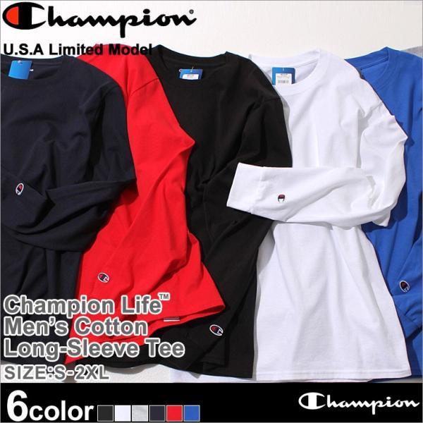 チャンピオン Tシャツ 長袖 メンズ レディース 大きいサイズ USAモデル|ブランド ロンT 長袖Tシャツ ロゴ アメカジ|f-box